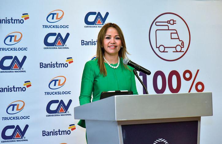 EMPRESARIALES EVENTOS    Banistmo, Cervecería Nacional y Truckslogic presentaron el primer carro eléctrico de transporte de carga en Panamá